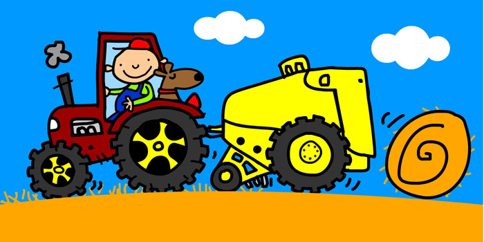 Hay Farmer Tractor Cartoon : John a abbott illustrator and cartoonist portfolio